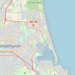 Map Of New Zealand Christchurch.Christchurch Maps Maps Of Christchurch New Zealand