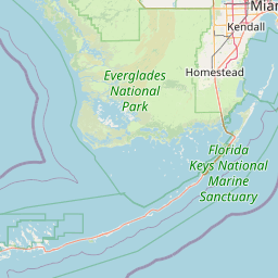 Map Of Florida By City.Florida City To Key West Fl Abandoned Rails